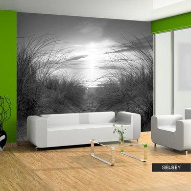 Fototapeta plaża (czarno-biały)