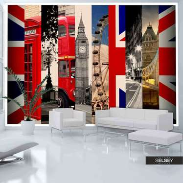 Fototapete LONDON-ASSOZIATIONEN