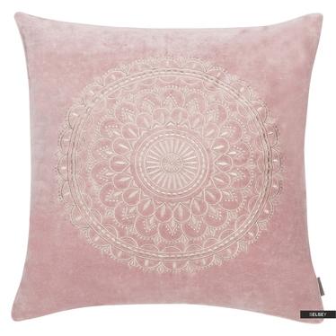 Dekokissen PRESTON VELVET rosa 45 x 45 cm