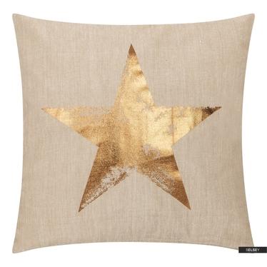 Dekokissen STAR gold 45x45 cm