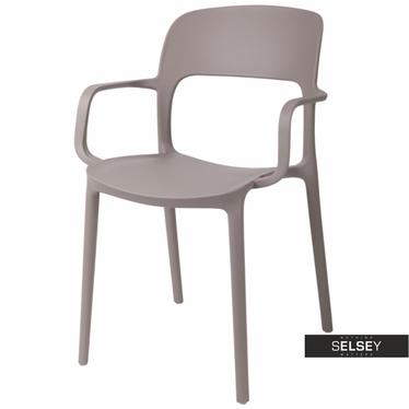 Stuhl mit Armlehnen FLEXI hellgrau