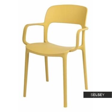 Stuhl mit Armlehnen FLEXI olivgrün