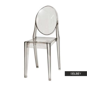 Stuhl VIKI grau transparent