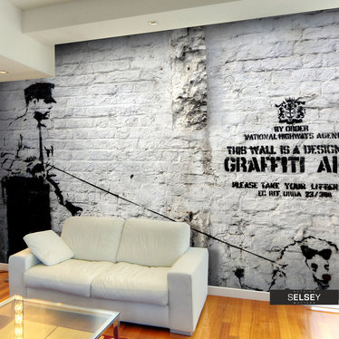 Fototapete BANKSY – GRAFFITI AREA