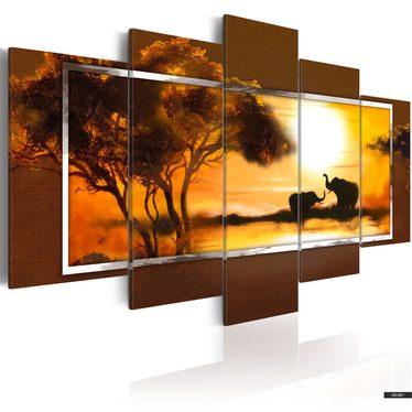 Wandbild ELEFANTEN 100x50 cm