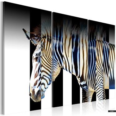 Wandbild STREIFEN - TRIPTYCHON 120x80 cm