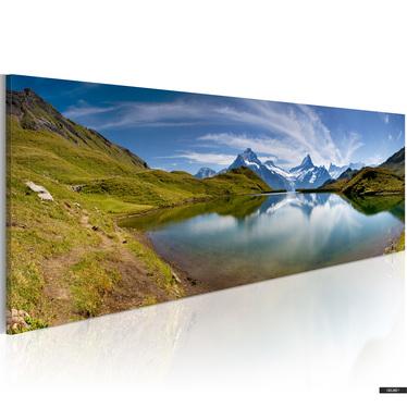 Obraz - Mountain lake 120x40 cm