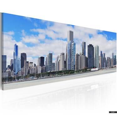 Wandbild BIG CITY - BIG HOPES 120x40 cm