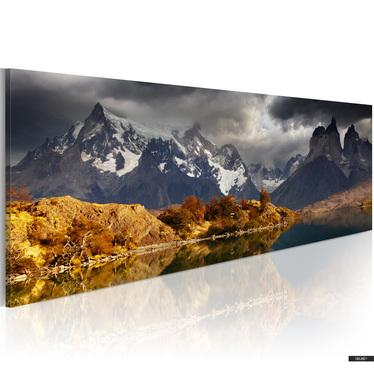 Obraz - Mountain landscape before a storm 120x40 cm