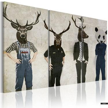Wandbild DER MENSCH IST AUCH NUR EIN TIER 120x80 cm