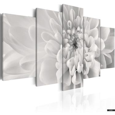 Wandbild DAHLIE IN GRAU 100x50 cm