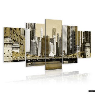 Wandbild NEW YORK VINTAGE 200x100 cm