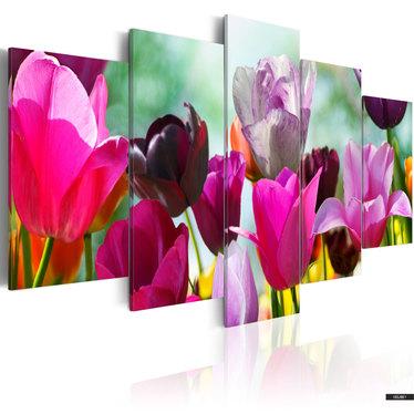 Wandbild BLUMENPARADIES 100x50 cm