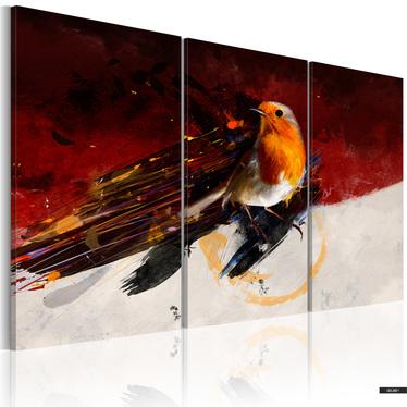 Wandbild KLEINER VOGEL 120x80 cm