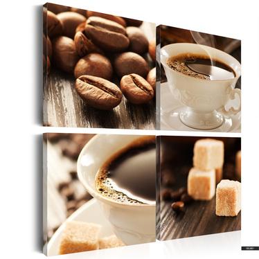 Wandbild CUP OF COFFEE 4-teilig 80x80 cm