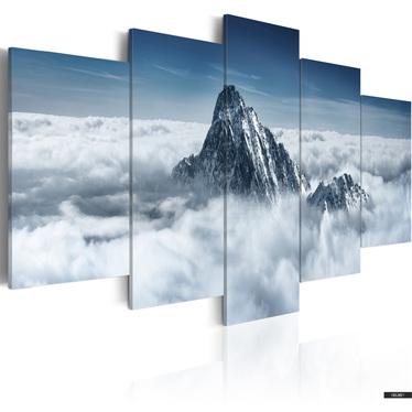 Wandbild BERGSPITZE ÜBER DEN WOLKEN 100x50 cm