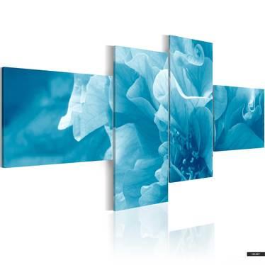 Wandbild BLAUE AZALEE 200x90 cm