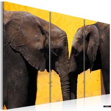 Wandbild KUSS VON ELEFANTEN 120x80 cm
