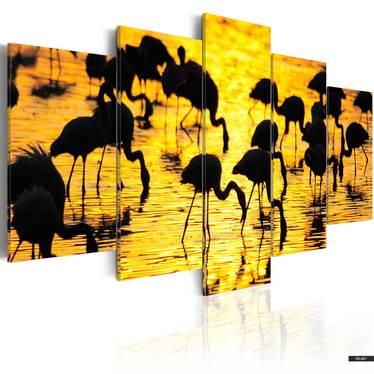 Wandbild FLAMINGOS AM MEER 100x50 cm