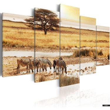 Wandbild ZEBRAS 200x100 cm