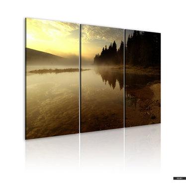 Wandbild ABEND AM SEE 120x80 cm