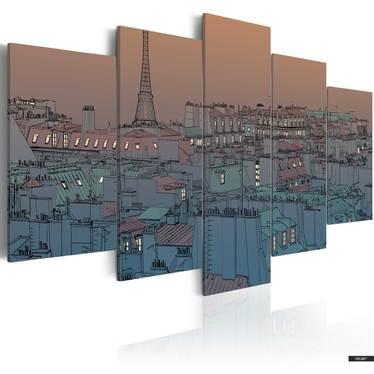 Wandbild PARIS - DIE STADT GEHT ZUR RUHE 200x100 cm