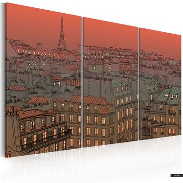 Wandbild EIFFELTURM BEIM SONNENUNTERGANG 120x80 cm