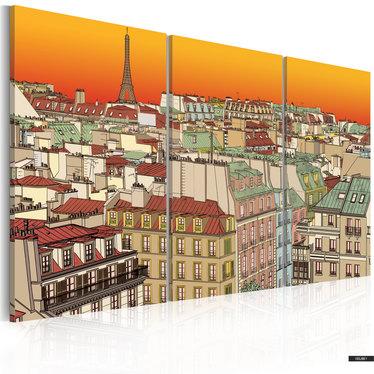 Wandbild PARIS IM HELLEN LICHT 120x80 cm
