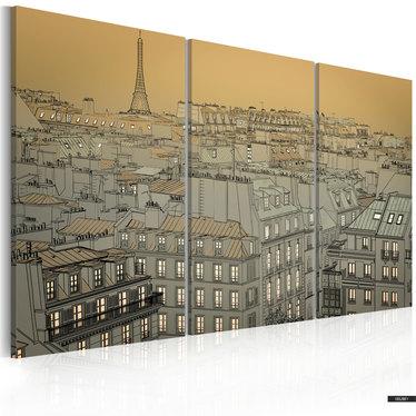 Wandbild DÄMMERUNG IN PARIS 120x80 cm