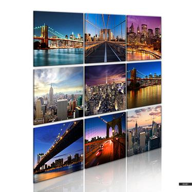 Wandbild NEW YORK 9-teilig 60x60 cm