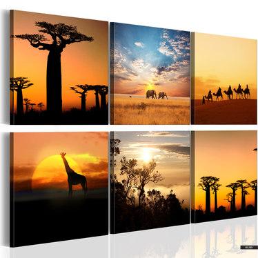 Wandbild AFRIKANISCHE LANDSCHAFT 120x80 cm