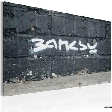 Wandbild BANKSYS UNTERSCHRIFT 60x40 cm