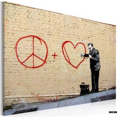 Wandbild ARZT PAZIFIST by Banksy 60x40 cm