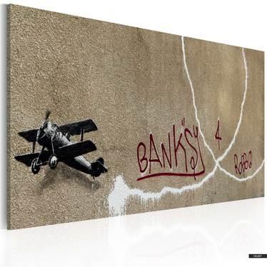 Wandbild FLUGZEUG DER LIEBE by Banksy 60x40 cm