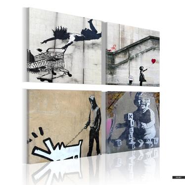 Wandbild BANKSY 80x80 cm