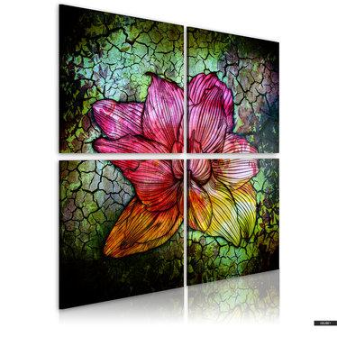 Wandbild GLASBLUME 80x80 cm