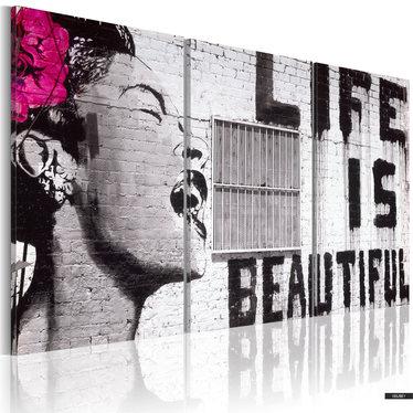 Wandbild DAS LEBEN IST SCHÖN 120x60 cm