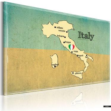 Wandbild LANDKARTE VON ITALIEN 90x60 cm