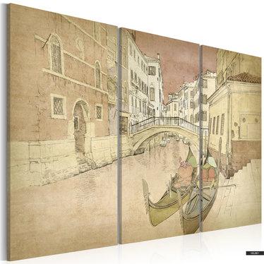 Wandbild CITY OF LOVERS 3-teilig 60x40 cm