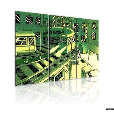 Wandbild BAHNHOF 120x80 cm