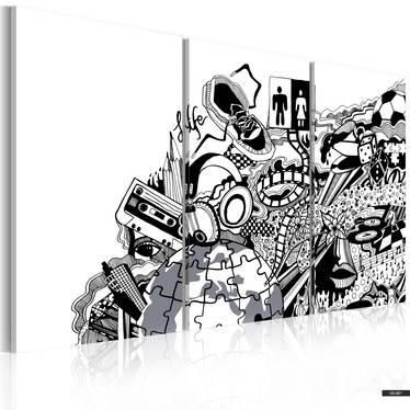 Wandbild ARTISTIC MESS 3-teilig 60x40 cm