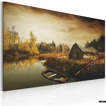 Wandbild IDYLLIC VILLAGE 90x60 cm