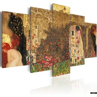 Wandbild KLIMT'S MUSES 100x50 cm