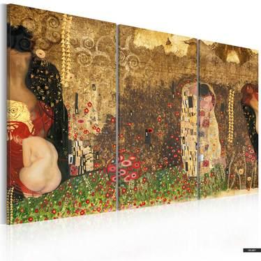Wandbild GUSTAV KLIMT INSPIRATION Triptychon 60x40 cm