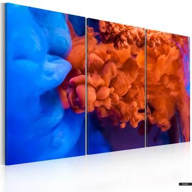 Wandbild ABSTRAKTION: ROT UND BLAU 120x80 cm