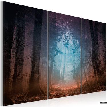 Wandbild EDGE OF THE FOREST  - 3-teilig 60x40 cm