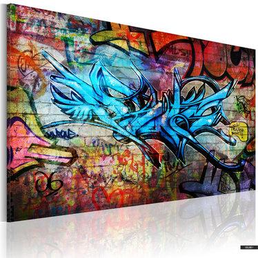Wandbild ANONYMOUS GRAFFITI 90x60 cm