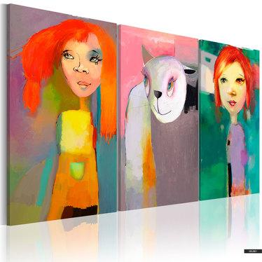 Wandbild ALICE HAT EINE KATZE 120x80 cm