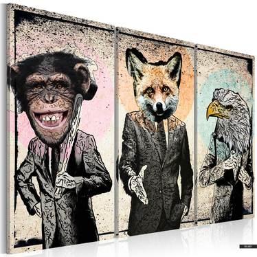 Wandbild AFFENGESCHÄFT 120x80 cm