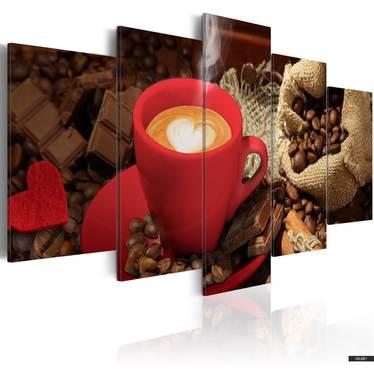 Wandbild LOVE ESPRESSO 5-teilig 100x50 cm